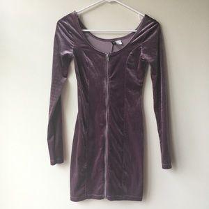 H&M purple long sleeve dress 2